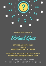 Thumbnail image for Virtual Quiz Night, Saturday 18th July. Full details of how to join here