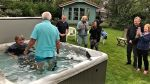 Thumbnail image for Could it be a first… a  hot tub baptism?