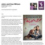 Thumbnail image for Learning to love, a prayer letter from John & Sue Wilson