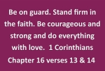 Thumbnail image for In her Monday morning message to the pastoral team Jane Coates encourages them (and us) to stand firm