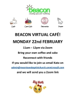 Thumbnail image for Beacon Virtual Cafe – Monday 22 Feb by Zoom