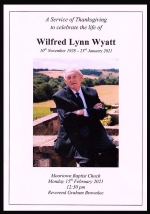 Thumbnail image for See again, in full, the Service of Thanksgiving for the life of Wilfred Wyatt