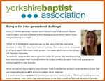 Thumbnail image for The YBA invites Shelley to talk about the challenges she faces planning and running inter-generational church